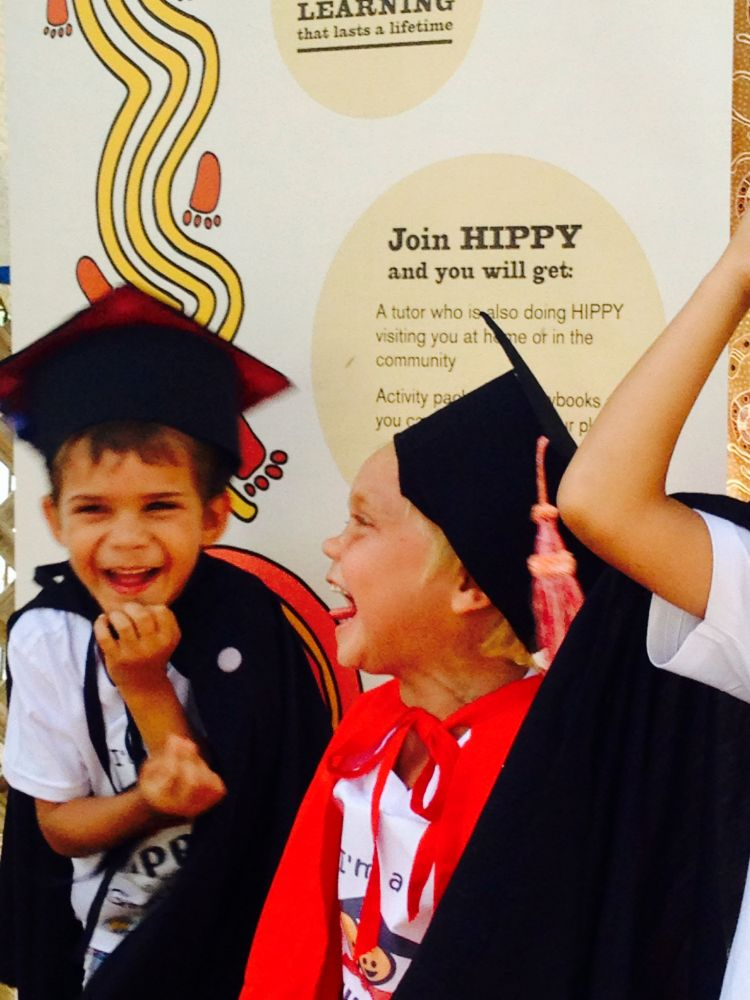 Hippy graduates celebrate and laugh
